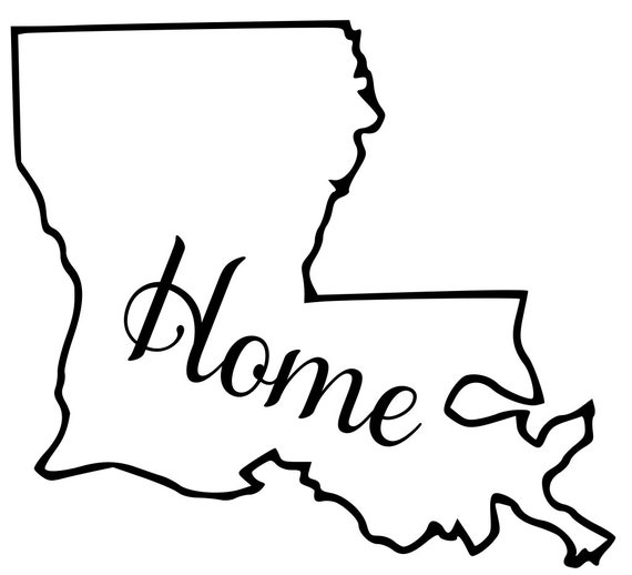 Louisiana with or without Home Map Decal Sticker for your car truck suv van wall phone window rv trailer state