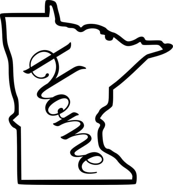 Minnesota with or without Home Map Decal Sticker for your car truck suv van wall phone window rv trailer state