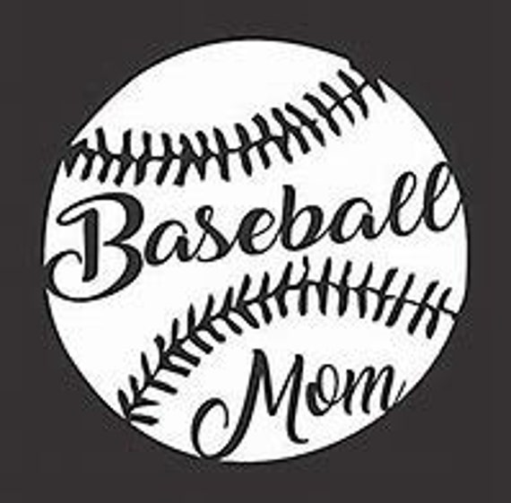 Baseball Mom Decal Sticker for your car truck suv phone tablet window bumper