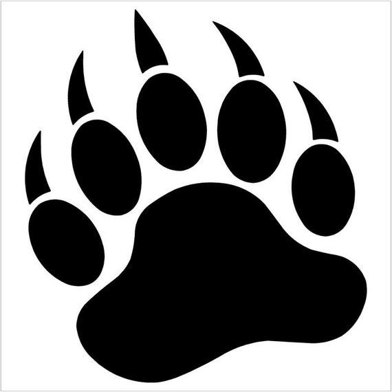 Grizzly Bear Paw vinyl decal sticker car truck suv van bumper  mirror  window  helmet  laptop  Yeti phone
