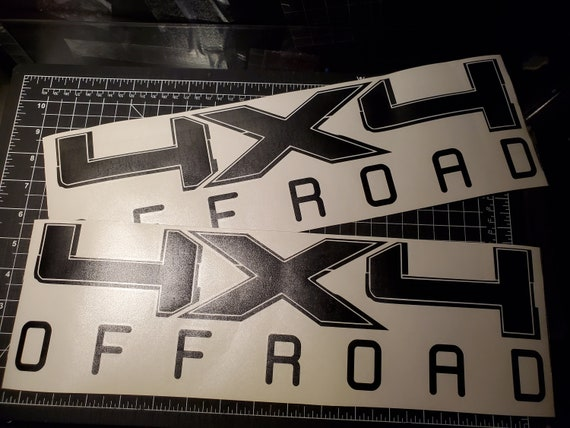 Pair 4x4 Offroad Bed Decals Stickers Ford F-150 Truck-T-44