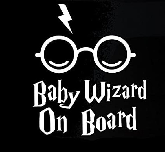 Baby Wizard On Board Baby On Board Decal Sticker for your car truck suv minivan van window bumper
