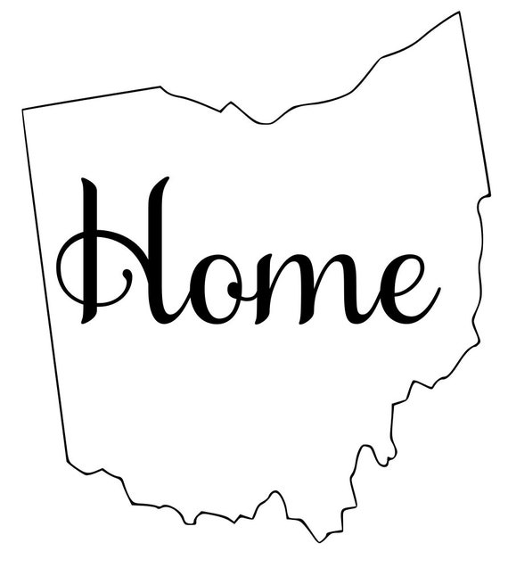 Ohio with or without Home Map Decal Sticker for your car truck suv van wall phone window rv trailer state