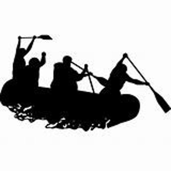 River Rafting Silhouette Decal Sticker for your car truck suv phone tablet window bumper