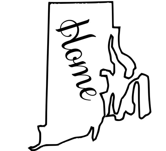 Rhode Island with or without Home Map Decal Sticker for your car truck suv van wall phone window rv trailer state