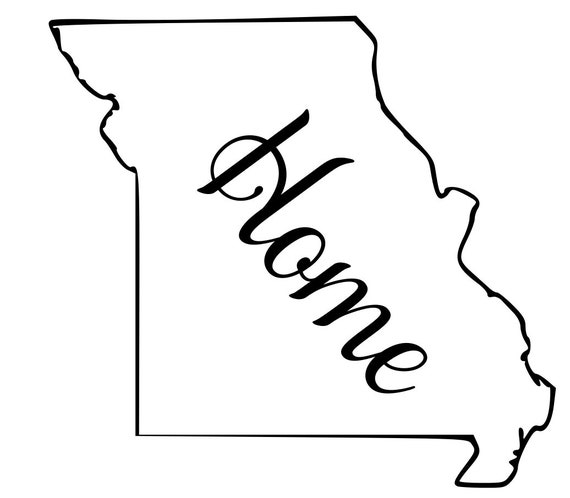 Missouri with or without Home Map Decal Sticker for your car truck suv van wall phone window rv trailer state