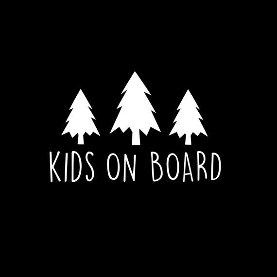 Kids On Board Adventure Decal Sticker for your car truck suv minivan van window bumper