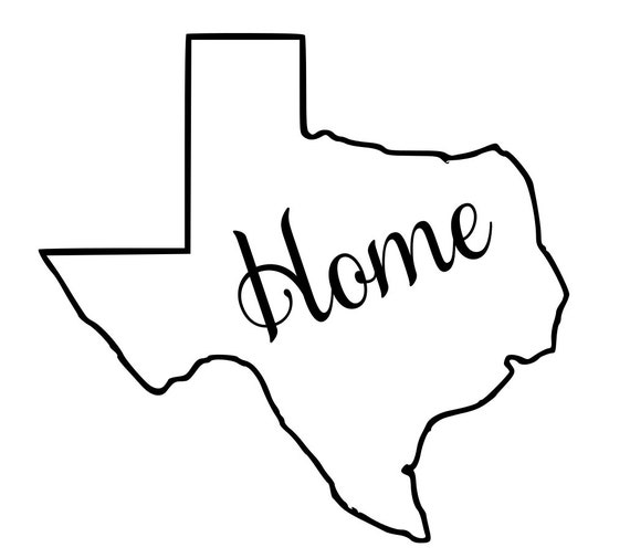 Texas with or without Home Map Decal Sticker for your car truck suv van wall phone window rv trailer state