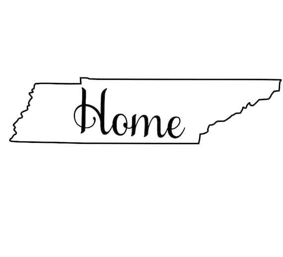 Tennessee with or without Home Map Decal Sticker for your car truck suv van wall phone window rv trailer state