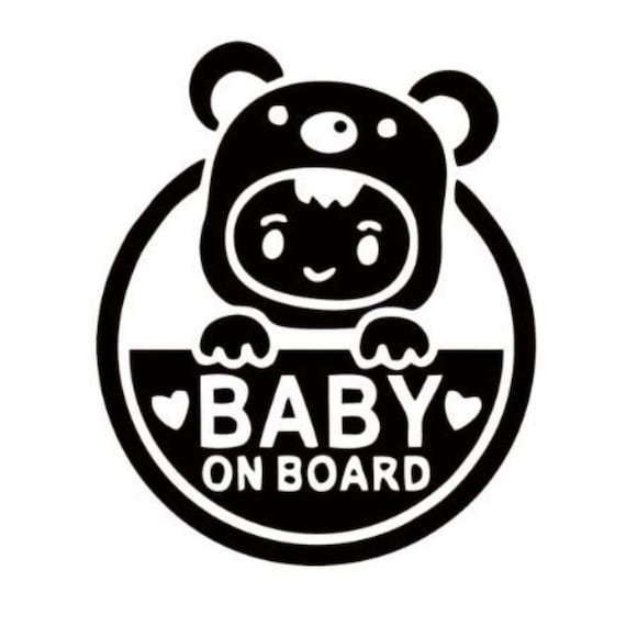 Baby On Board Decal Sticker for your car truck van suv vehicle window tiny human newborn