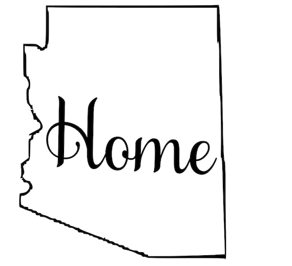 Arizona with or without Home Map Decal Sticker for your car truck suv van wall phone window rv trailer state