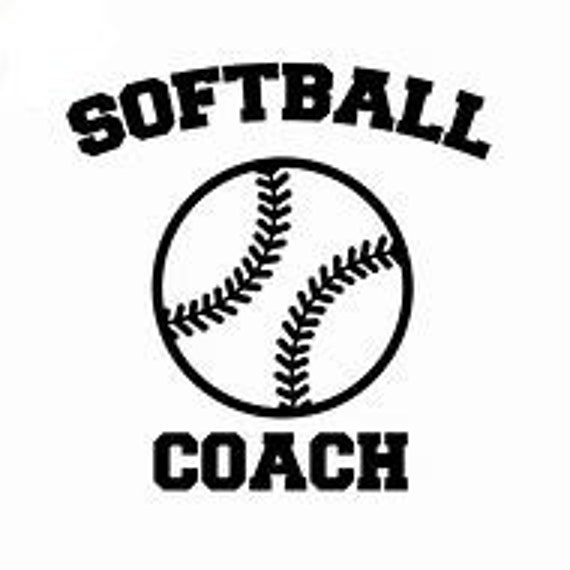 Softball Coach Decal Sticker for your car truck suv phone tablet window bumper