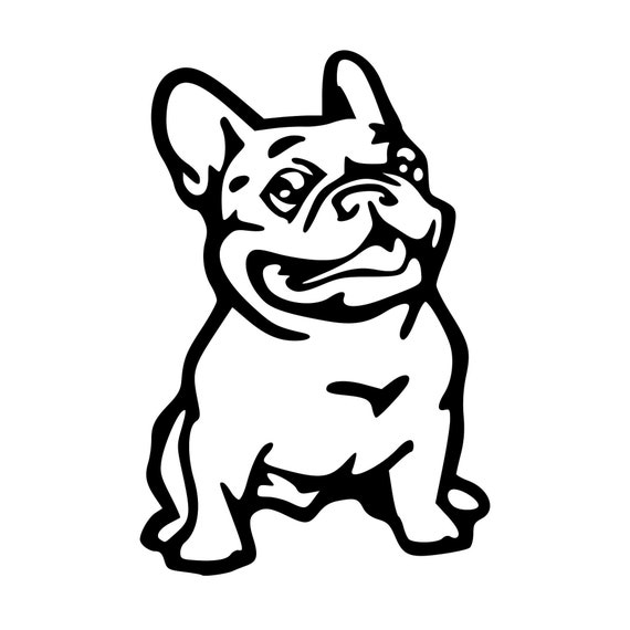 Bulldog Silhouette Decal - Sticker For Your Car Truck Window - Customize - Personalize