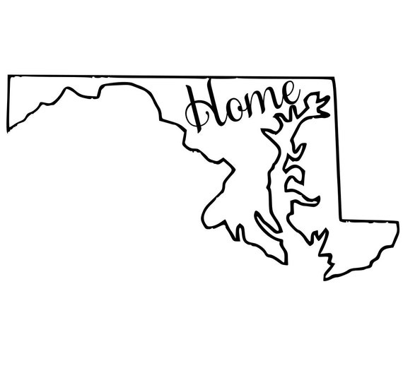 Maryland with or without Home Map Decal Sticker for your car truck suv van wall phone window rv trailer state