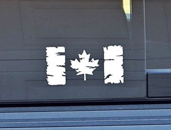 Distressed Canadian Flag Decal - Sticker For Your Car Truck phone or Window