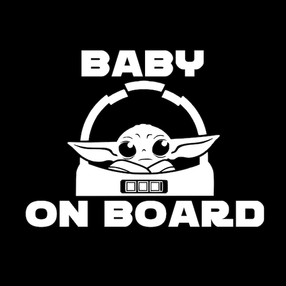 Baby Alien On Board Decal Sticker for your car truck suv minivan van window bumper infant newborn tiny humans yoda
