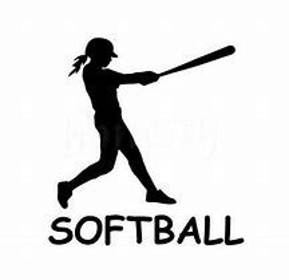 Softball Girl Decal Sticker for your car truck suv phone tablet window bumper