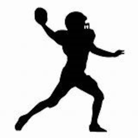 Football Silhouette Decal Sticker for your car truck suv phone tablet window bumper