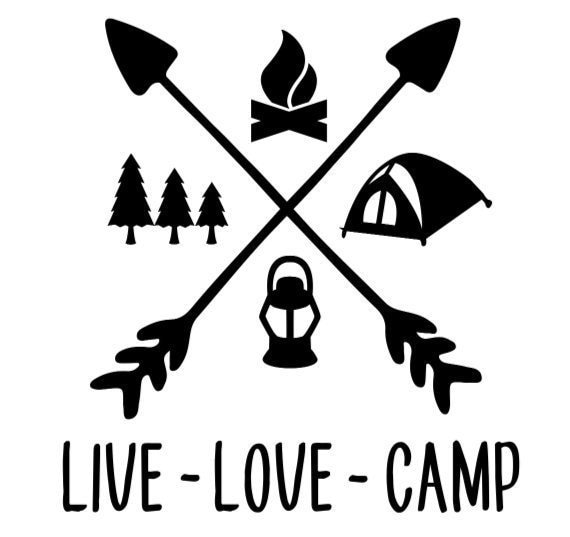 Live Love Camp Camping Decal - Sticker For Your Car Truck RV Motorhome Travel Trailer Camper or Window