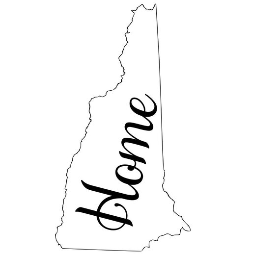 New Hampshire with or without Home Map Decal Sticker for your car truck suv van wall phone window rv trailer state