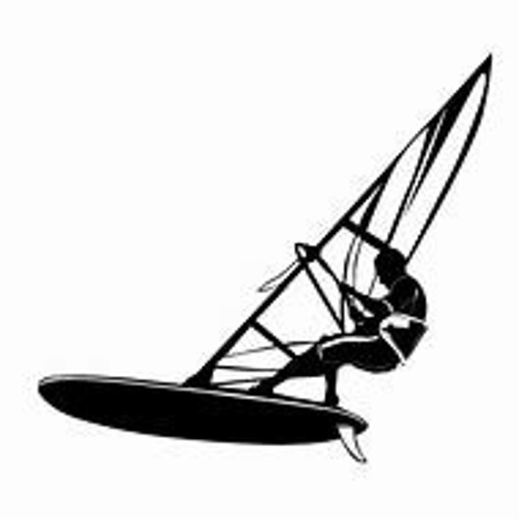 Wind Surfing Decal Sticker for your car truck suv van phone tablet window bumper