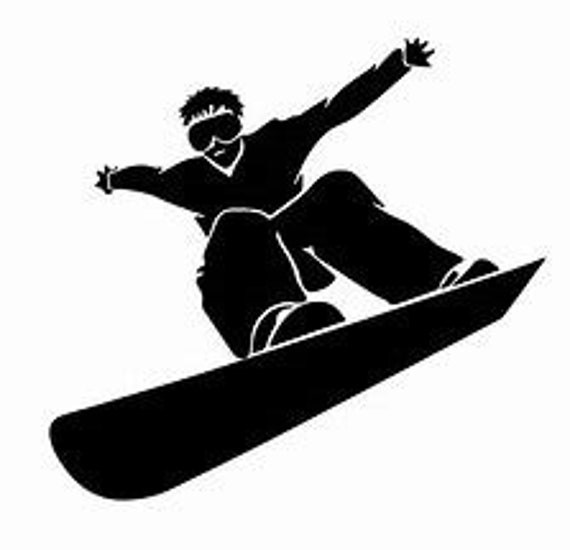 Snowboarder Snowboarding Silhouette Decal Sticker for your car truck suv phone tablet window bumper