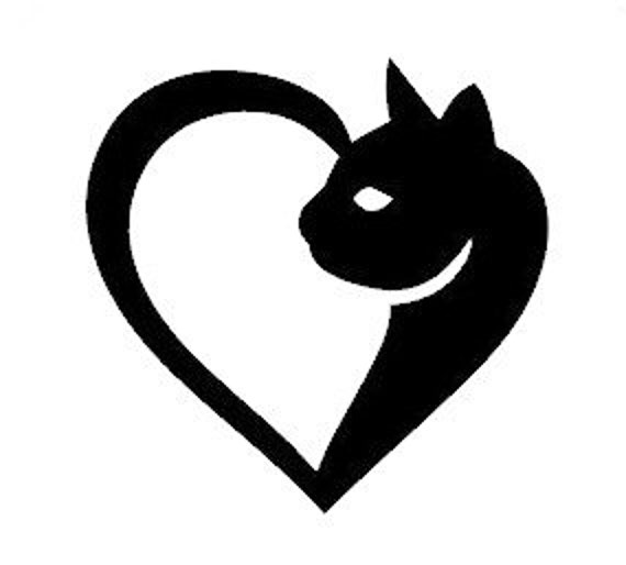 Love Cats Decal Sticker for your car truck suv van - Love Pets Animals