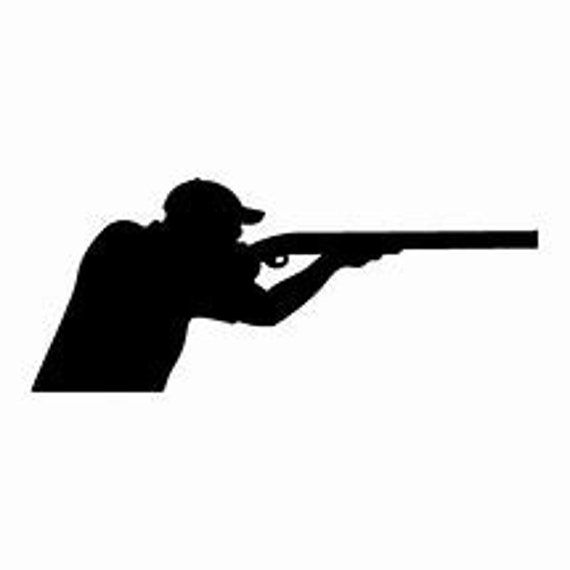 Hunting Shooter Silhouette Decal Sticker for your car truck suv phone tablet window bumper