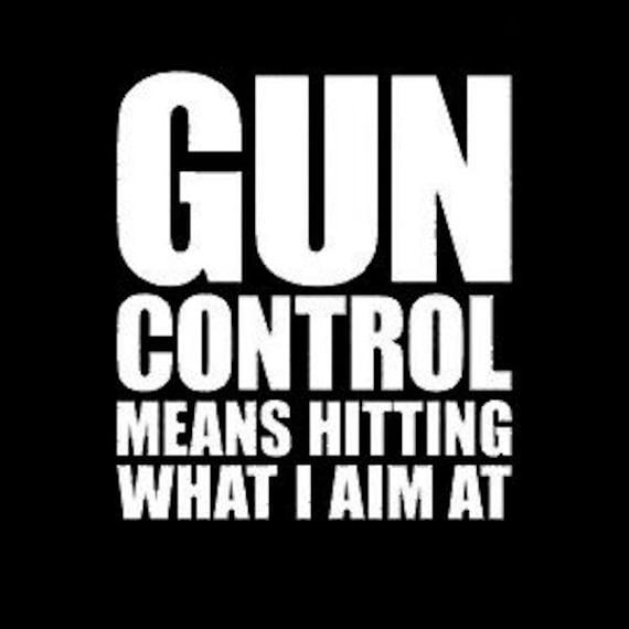 Gun Control Means Hitting What I Aim At Decal Sticker For Your Car Truck SUV Van Phone Wall Trump Trudeau Fuck Gun Control