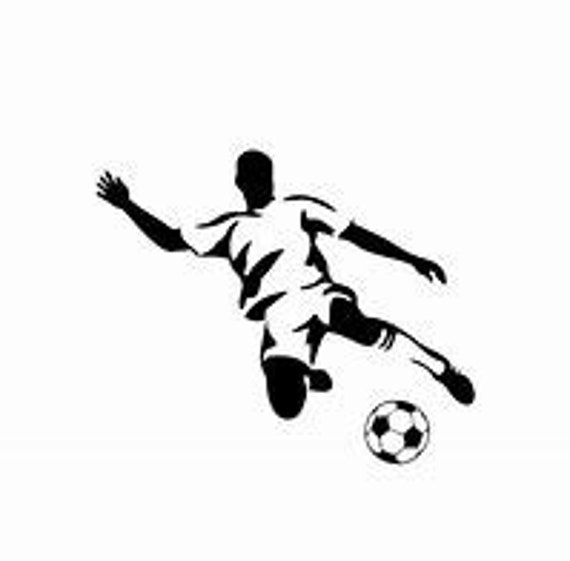 Soccerball Player Soccer Ball Futbol Decal Sticker for your car truck suv phone tablet window bumper