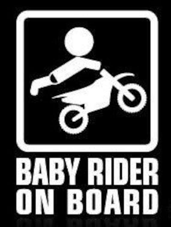 Baby Rider On Board Baby On Board Decal Sticker for your car truck suv minivan van window bumper