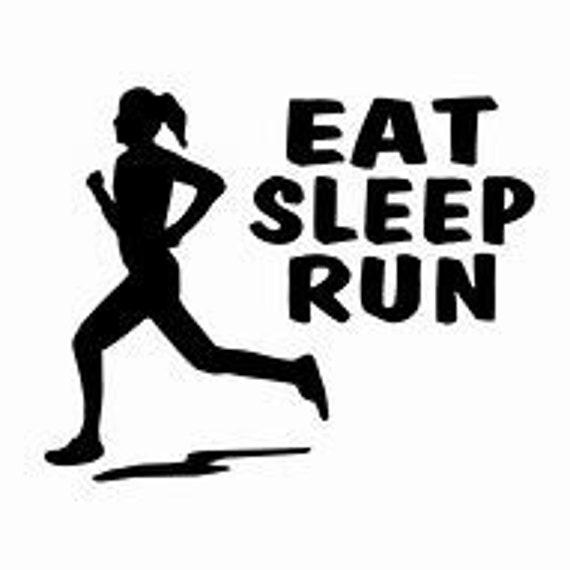 Eat Sleep Run Decal Sticker for your car truck suv phone tablet window bumper