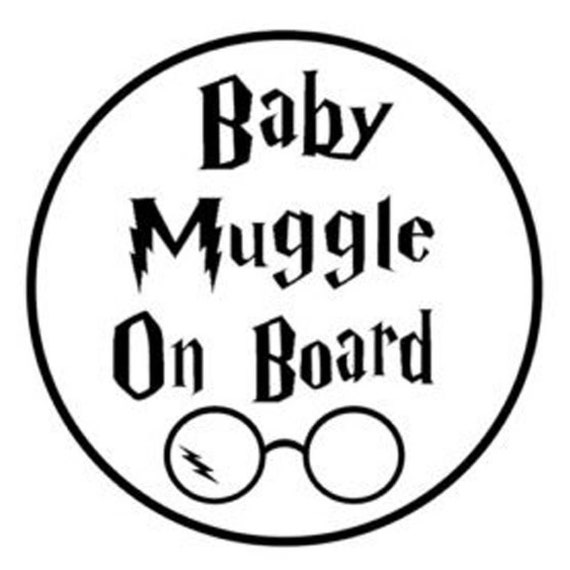 Baby Muggle On Board Baby On Board Decal for your car truck suv van window or bumper newborn in car