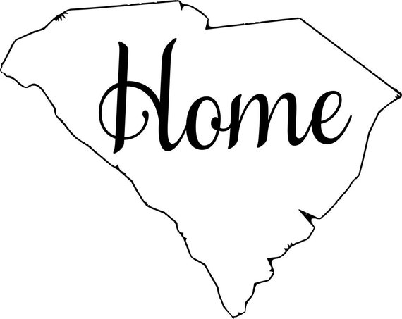 South Carolina with or without Home Map Decal Sticker for your car truck suv van wall phone window rv trailer state