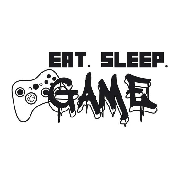 Eat Sleep Game Decal - Sticker For Your Car Truck Window wall phone tablet