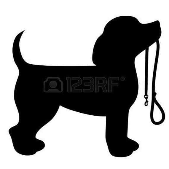 Beagle With A Leash Decal for your car truck wall phone - Gift for a Dog Lover