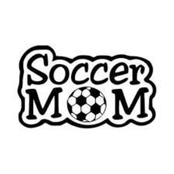 Soccer Mom Decal Sticker for your car truck suv van phone tablet window bumper