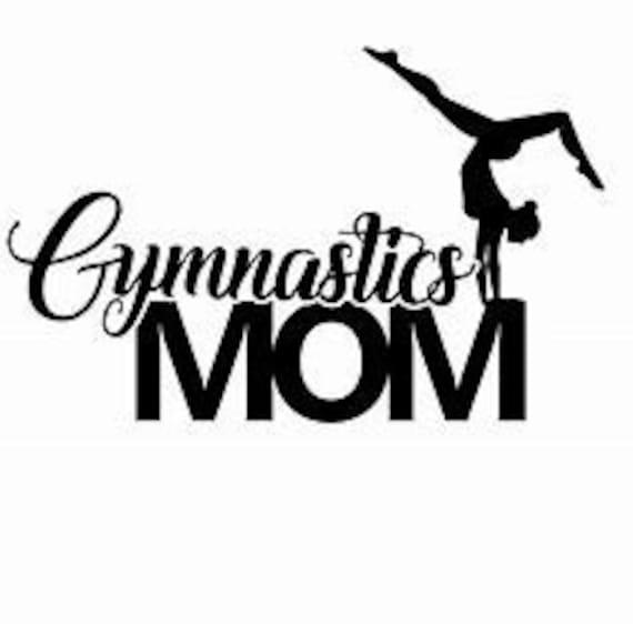 Gymnastics Mom Decal Sticker for your car truck suv phone tablet window bumper