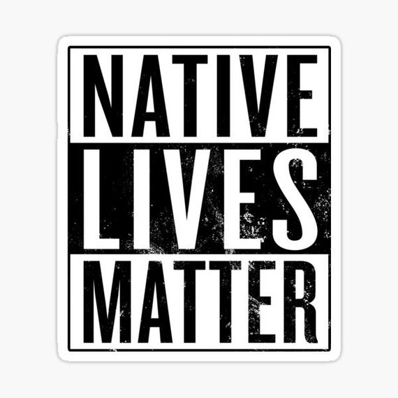 Native Lives Matter Decal - Sticker For Your Car Truck Window wall phone tablet Anti Abortion Choose Life