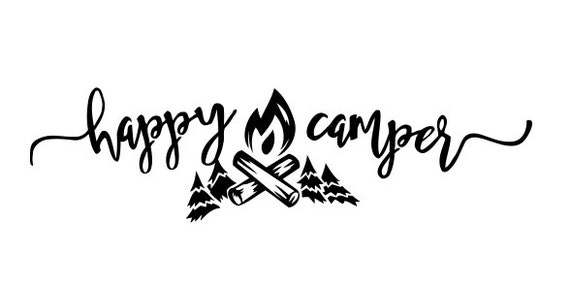 SVG file of Happy Camper