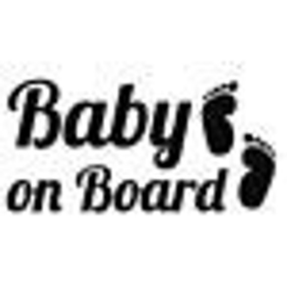Baby On Board Footprints Decal - Sticker For Your Car Truck phone or Window