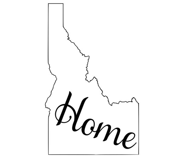 Idaho with or without Home Map Decal Sticker for your car truck suv van wall phone window rv trailer state