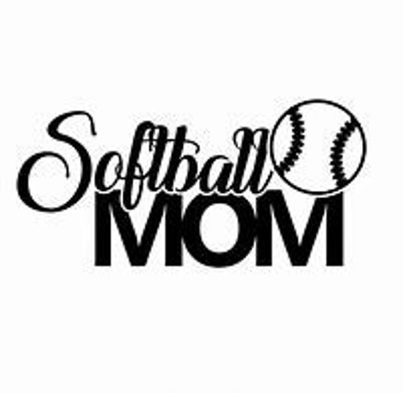 Softball Mom Decal Sticker for your car truck suv phone tablet window bumper