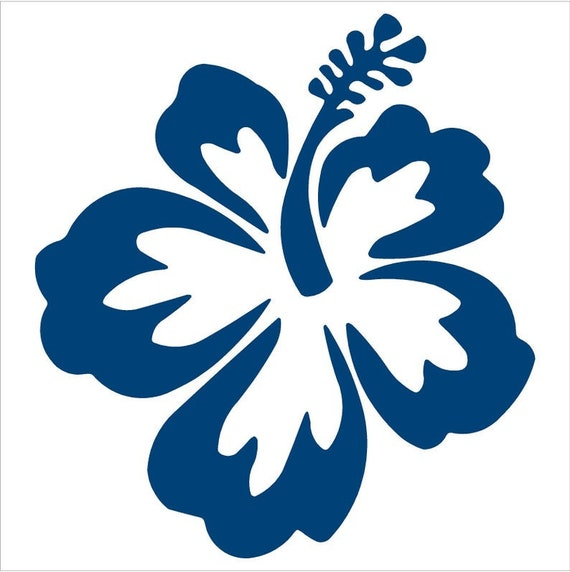 HIBISCUS FLOWER vinyl decal sticker car truck suv van bumper  mirror  window  helmet  laptop  Yeti phone