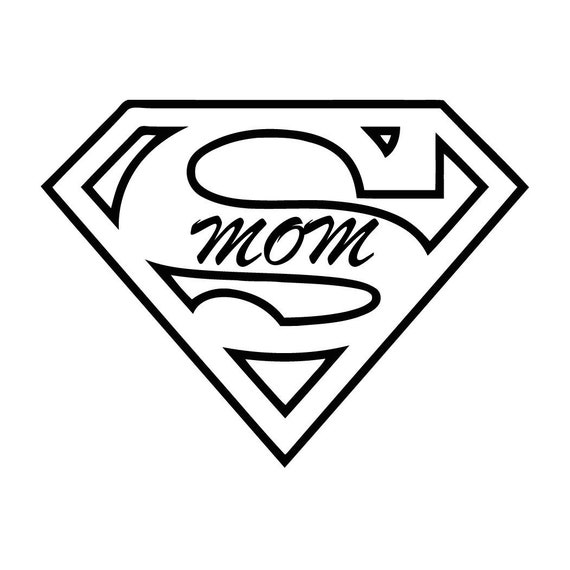 Super Mom Decal Sticker for your car truck vehicle window