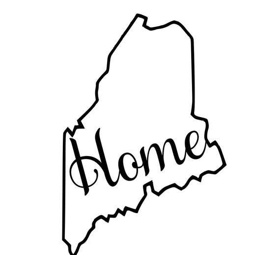 Maine with or without Home Map Decal Sticker for your car truck suv van wall phone window rv trailer state