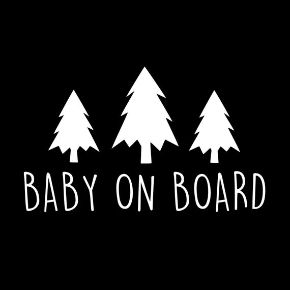 Baby On Board Adventure Decal Sticker for your car truck suv minivan van window bumper