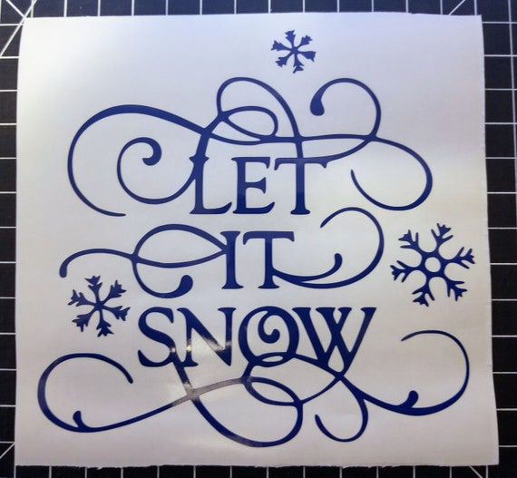 Let it snow winter Decal Sticker for your car truck suv van wall phone window christmas seasons greetings
