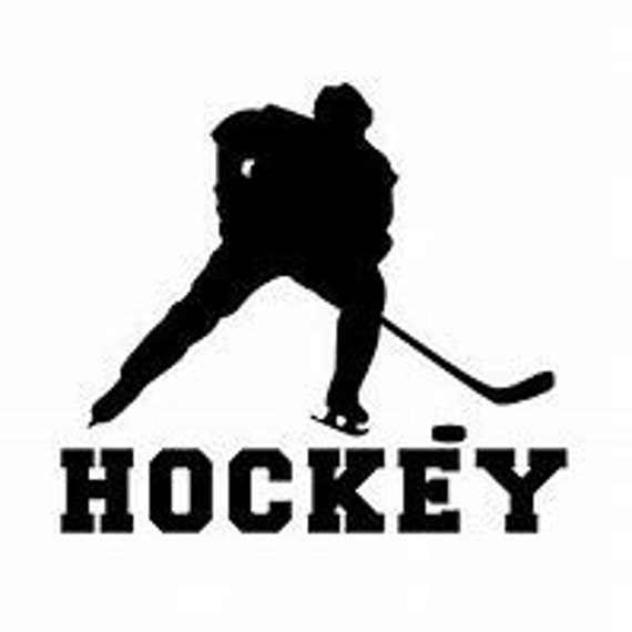 Hockey Silhouette Decal Sticker for your car truck suv phone tablet window bumper