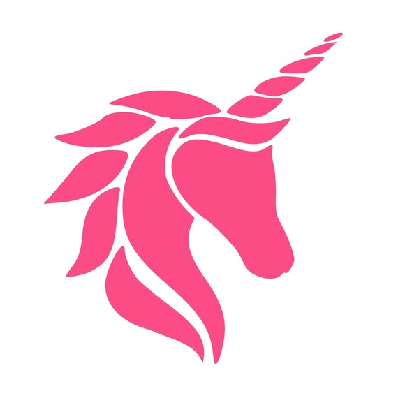 SVG File of Unicorn Head SVG File Download